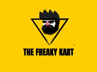 The Freaky Kart Mascot Logo illustration