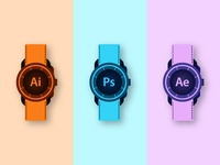 Adobe Watches Concept Illustration