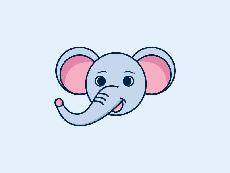 Elephant Character Design mascot design character concept elephant logo branding design icon logotype school  symbol identity  read illustration  logo animal  illustrative funny  elephant cute fun character mascot