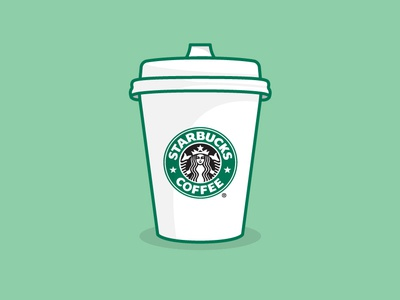Starbucks Coffee Mockup adobe illustrator symbol letter logomark illustrator typography logotype branding logo illustration icon mockup design mockup