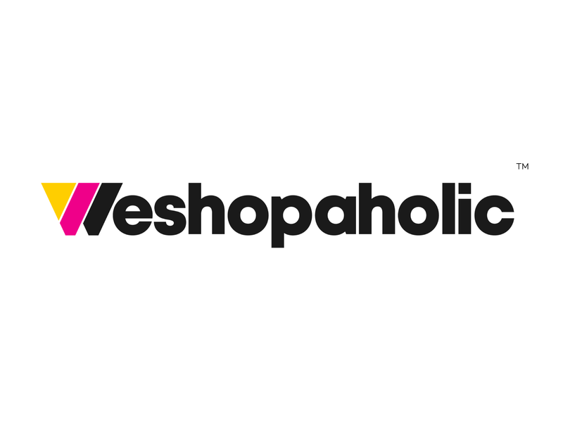 Weshopaholic Logo illustration mark logomark letter symbol illustrator typography dribbble logotype branding logo icon illustration