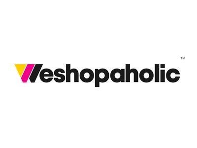 Weshopaholic Logo illustration mark logomark letter symbol illustrator typography dribbble logotype branding logo icon illustration