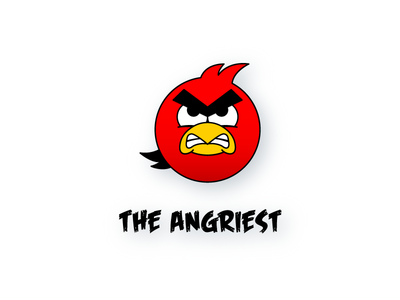 The Angriest character mascot logotype symbol logomark vector adobe illustrator typography dribbble branding logo icon illustration