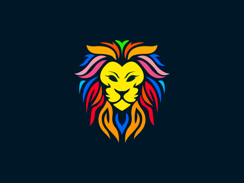 Lion lion head vector design illustration mascot characer logo lion