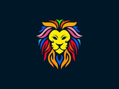Lion lion head vector design illustration mascot characer logo lion