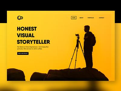 Filmmaker Portfolio minimalist typography web app ux dribbble design ui