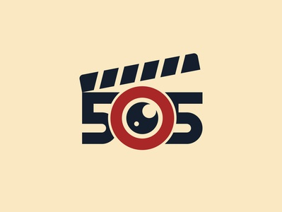 505 Films Logo Design symbol adobe illustrator logomark illustrator dribbble logotype branding icon logo illustration