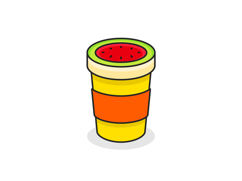 Melon Cafe creative mascot logo mascot adobe illustrator vector design illustrator dribbble icon branding illustration