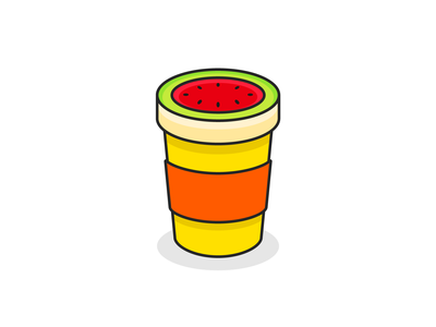 Melon Cafe creative mascot logo mascot adobe illustrator vector design illustrator dribbble icon branding illustration