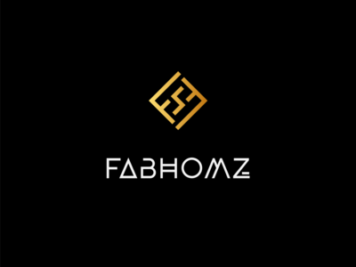 FABHOMZ Interiors - Logo Design typogaphy dribbble mark letter logomark symbol logotype branding logo icon illustration