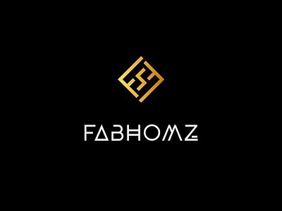 FABHOMZ Interiors - Logo Design typogaphy dribbble mark letter logomark symbol logotype branding logo icon illustration