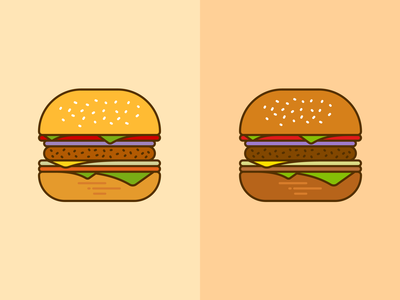 Burger Mockup mascot design illustrator symbol logotype dribbble branding logo icon illustration