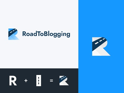 RoadToBlogging - Logo Redesign logo design branding blog blogging logotype branding typography creative design adobe illustrator rebranding rebrand redesign logo designer logodesign logo design