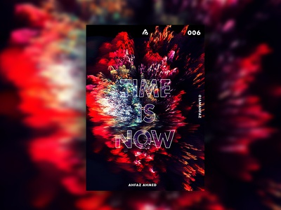 Poster #006 - Time Is Now red and black red poster art type art print design poster poster challenge poster a day illustration poster design dribbble adobe illustrator typography design creative