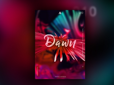 Poster #010  - Dawn 3d artist 3d art liquid fluids red and black red poster art art type print design poster design poster challenge poster a day poster illustration dribbble adobe illustrator typography design creative