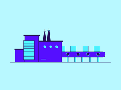 Manufacturing Line Illustration design illustrator designing graphic design creative design adobe illustrator illustration factories factory manufacture manufacturing