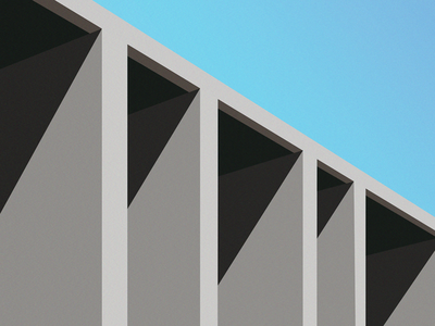 Minimal Architecture Illustration building design building minimal 3d creative art dribbble adobe illustrator design architectural design architect architechture illustration