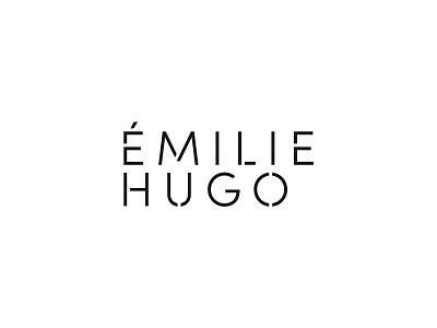Emilie Hugo - Rejected type branding design vector typography logo