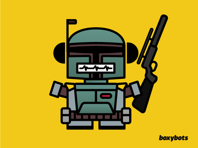 Bobot Fett - #DailyBoxybots Challenge adobe illustrator the force daily illustration illustration boba fett star wars boxybots dailiyboxybots