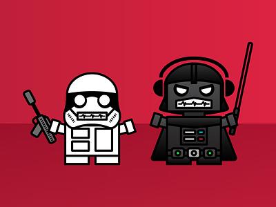 Imperial Bots dailyboxybots boxybots robots illustrator daily illustration star wars
