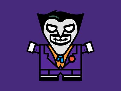 Why So Serious? adobe illustrator daily illustration illustration boxybots dailyboxybots dc batman joker