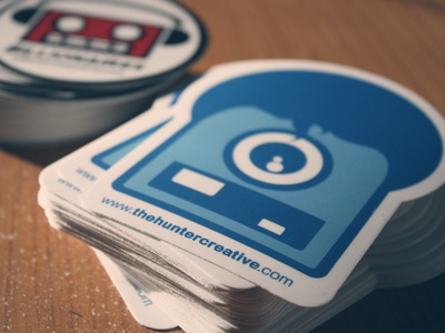 The hunter creative die cut stickers dribbble