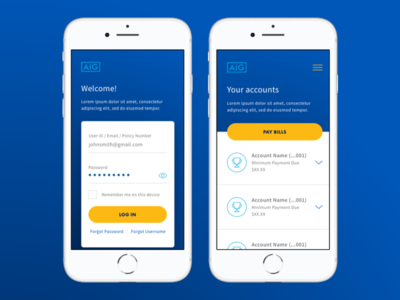 Mobile Login & Accounts
