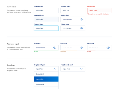 Design System WIP style guide pattern library ui forms form fields input fields design system