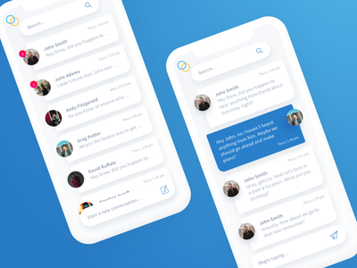 Chat Exploration chat interface facebook messenger chat ui chat bot ui messenger chat
