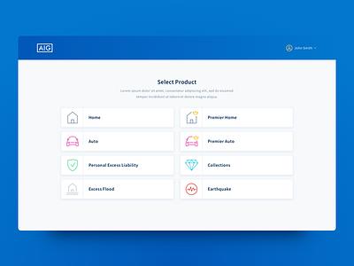 Product Selection ui design web design ux ui cards product insurance