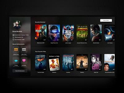 UI Challenge - User Profile apple design product design ui  ux design ui  ux ui tvos apple tv