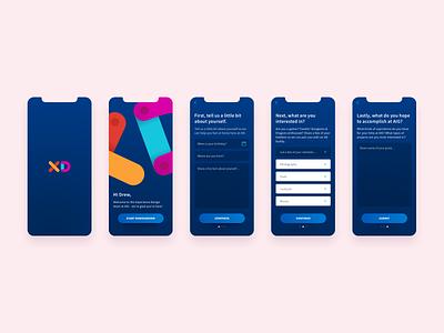UI Challenge - Mobile Onboarding Flow mobile design web design ui  ux design ui  ux minimal iphone x iphone ios mobile ui ui