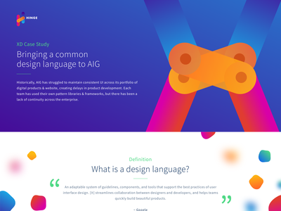 Design Language - Case Study design language responsive web design landing page case study design system