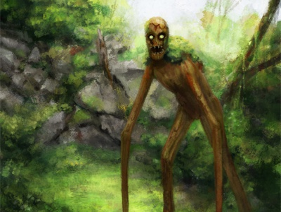 Oduni nature dark creature concept art concept drawing fantasy painting illustration art