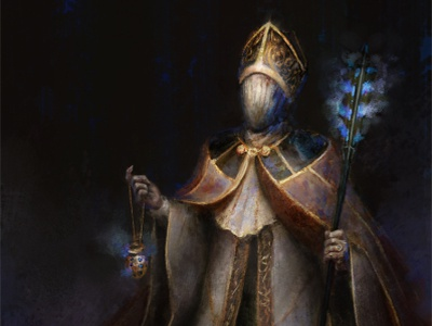 Distant Future Pope horror dark concept art concept drawing fantasy painting illustration art