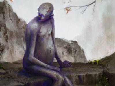 Kreatch creature dark concept art concept drawing fantasy painting illustration art