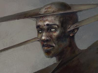 Mental Slice portrait dark concept art concept drawing fantasy painting illustration art
