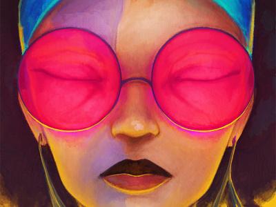Mayaimi colorful painting portait illustration art