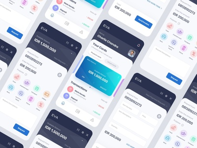 EVA | Online banking app for iOS wallet app online banking android app ios app ux ui uiux