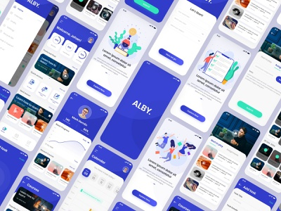 Alby |  online class management systems iOS app UI mockup ios illustration app ux ui uiux