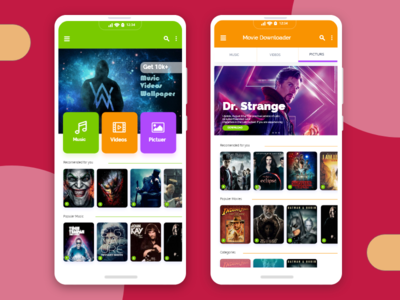 Music_Videos_and_wallpaper_Downloader App UI