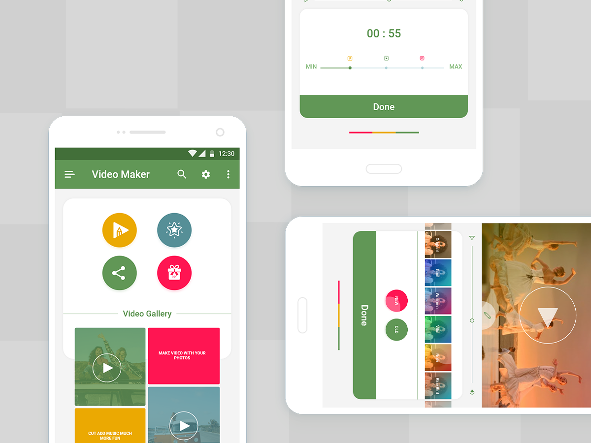 Video Editor UI For Android by Bashar Bhuiyan on Dribbble