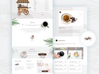 Coffee Shop Landing Page UI Concept 2019