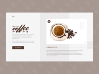 Coffee Shop Hero Header Design
