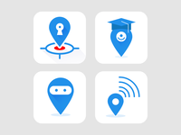 Location based  app icon Exploration