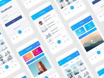 Video downloader  UI for Facebook, Instagram and twitter
