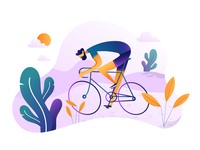 Cyclist  illustration  practices 03