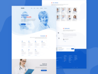 Health Care / Medical Service  Full web Page Design
