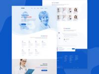 Health Care / Medical Service  Full web Page Design