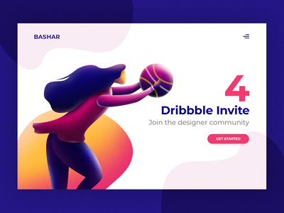 4 Dribbble Invite - get hurry !
